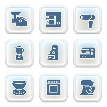 Internet icons on buttons 22 Stock Vector - 11298603