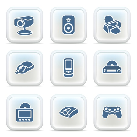 Internet icons on buttons 19 Vector