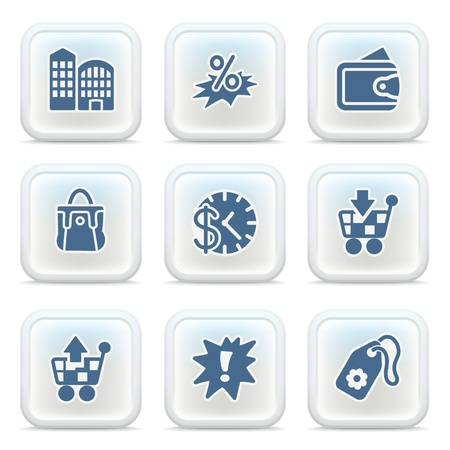 Internet icons on buttons 14 Stock Vector - 11298589