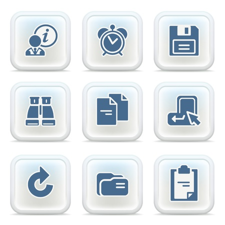 Los iconos de Internet en los botones 10 Ilustración de vector