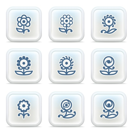 Internet icons on buttons 7 Vector