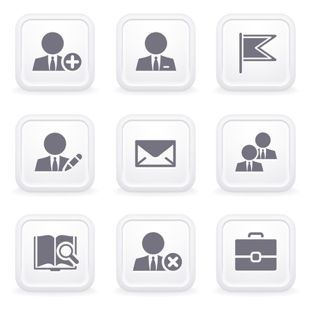 Internet icons on gray buttons 1 Stock Vector - 12066044