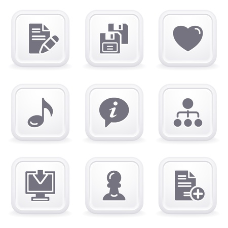 fdd: Internet icons on gray buttons 10