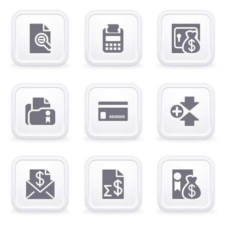 Internet icons on gray buttons 14 Vector