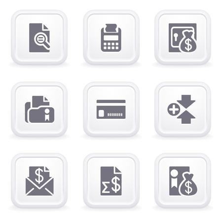 transaction: Internet pictogrammen op grijze knoppen 14