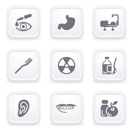 Internet icons on gray buttons 15 Vector