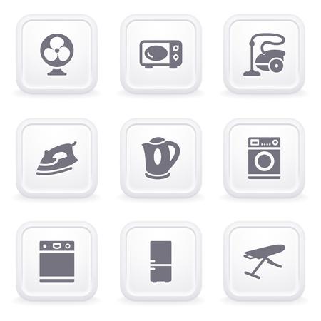 agd: Ikony internetowe szarych przycisków 18