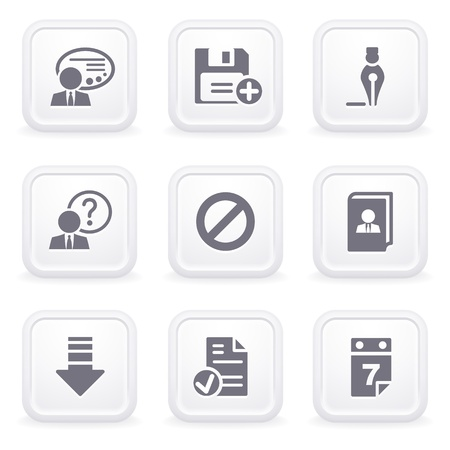 Internet icons on gray buttons 2 Vector