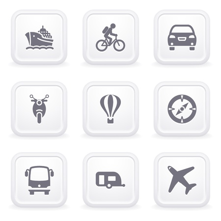 Internet icons on gray buttons 20