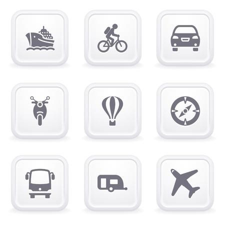 blimp: Los iconos de Internet en los botones grises de 20 Vectores