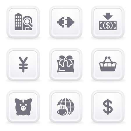 Internet icons on gray buttons 24 Vector