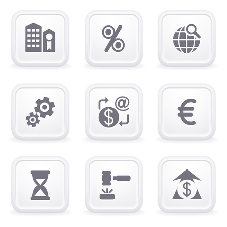 e cash: Internet icons on gray buttons 25