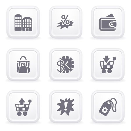 Internet icons on gray buttons 26 Stock Vector - 12066076