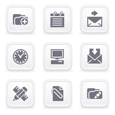 edit button: Internet icons on gray buttons 27