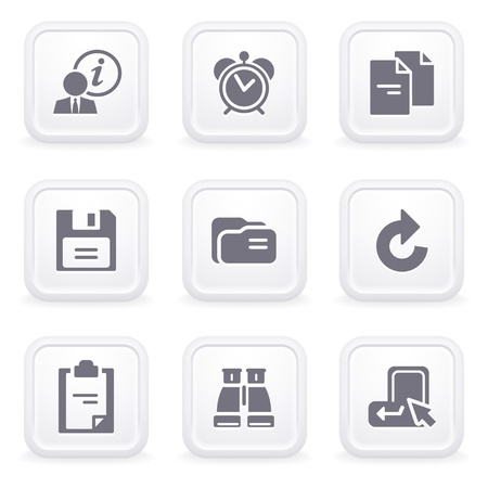 save button: Internet icons on gray buttons 3 Illustration