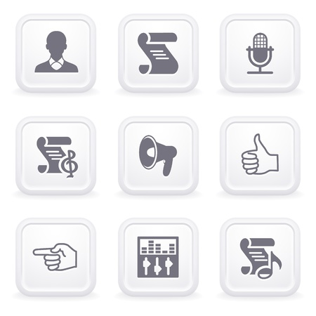 31: Internet icons on gray buttons 31