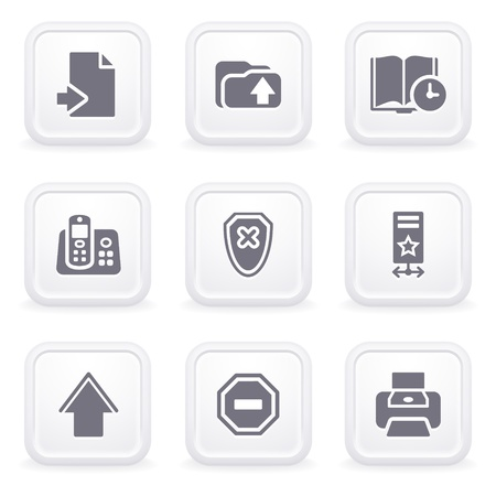 clock radio: Internet icons on gray buttons 4