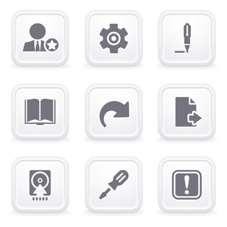 cancel: Internet icons on gray buttons 6