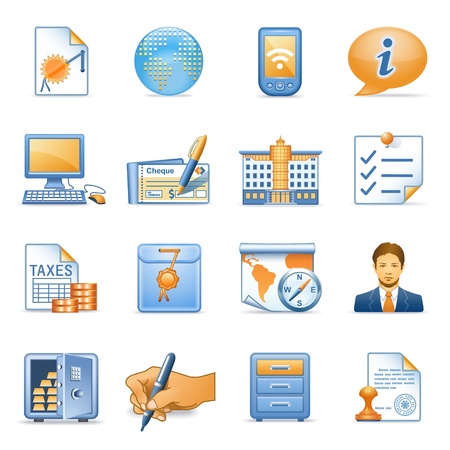 taxes: Icons for web blue orange series 4