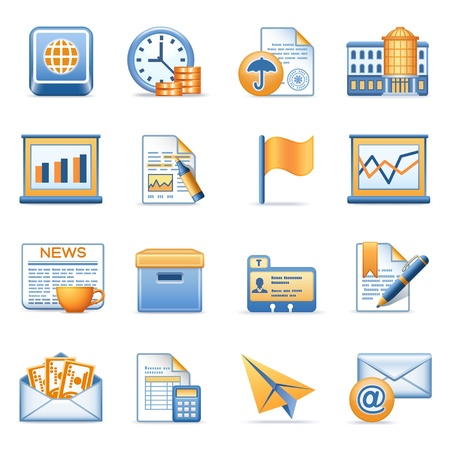 Icons for web blue orange series 5 Vector