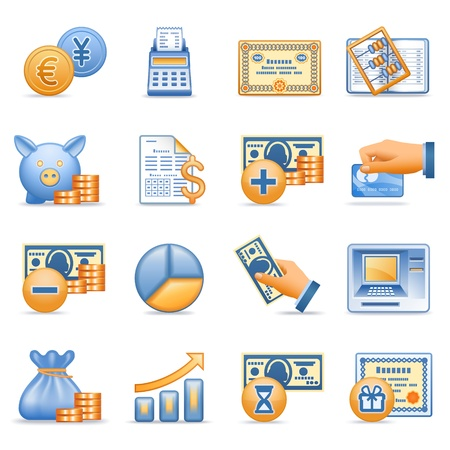 Icons for web blue orange series 7 Vector
