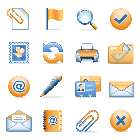 Icons for web blue orange series 9