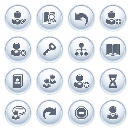 Icônes des utilisateurs du web sur les boutons