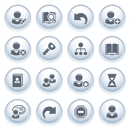 important information: Users web icons on buttons  Illustration