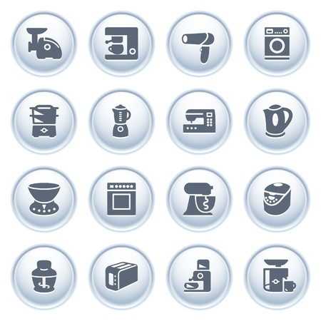 Home appliances on buttons  Vector