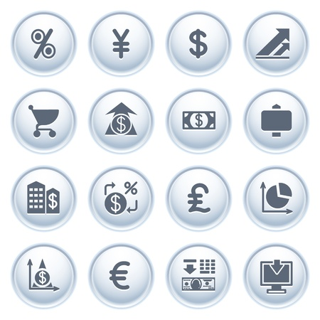 Finance web icons on buttons  Stock Vector - 12771783
