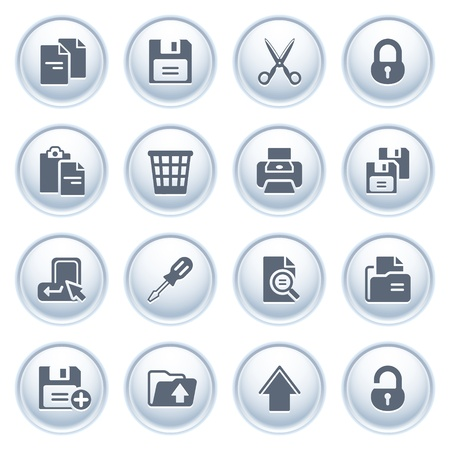 save button: Document icons on buttons, set 1 Illustration