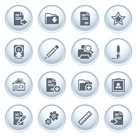 Document icons on buttons, set 2 Stock Vector - 12771791
