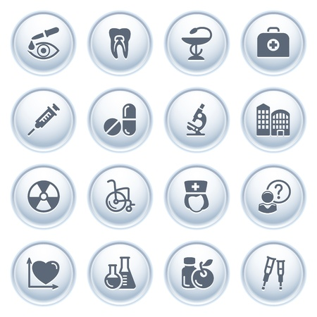 x ray: Medicine web icons on buttons, set 2 Illustration