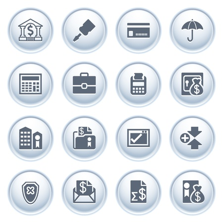 Banking web icons on buttons  Vector