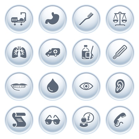 Medicine web icons on buttons  Vector