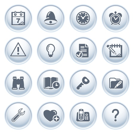 configure: Organizer web icons on buttons  Illustration