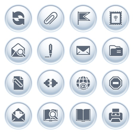 web address: E-mail web icons on buttons