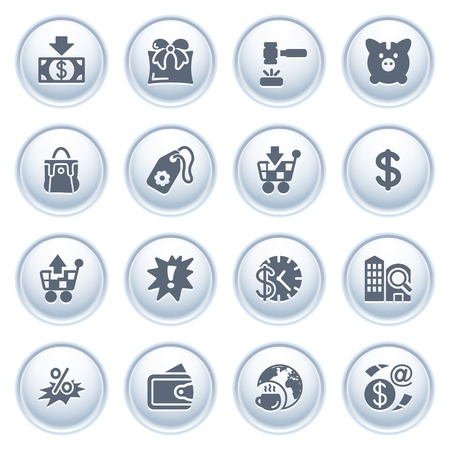 money order: Commerce icons on buttons  Illustration
