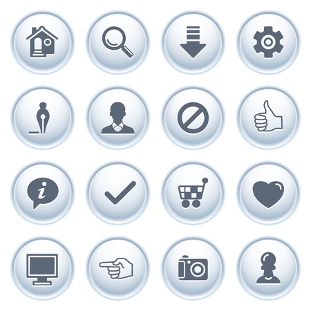 Basic web icons on buttons  Vector
