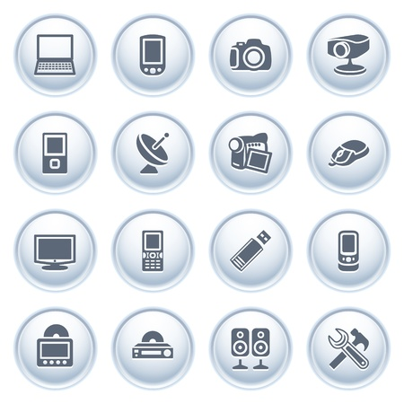 electronics icons: Electronics icons on buttons