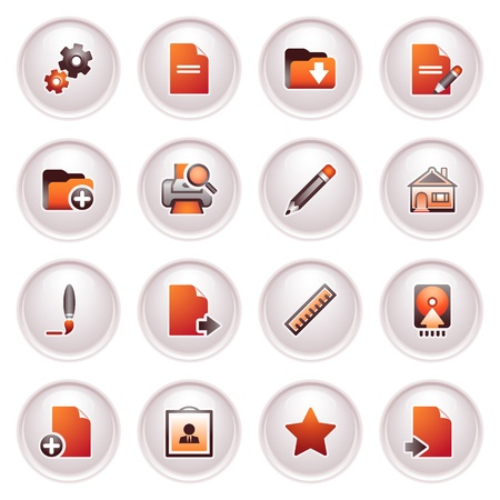 Document icons, set 2  Black red series Stock Vector - 12771807