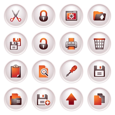 save as: Document icons, set 1  Black red series
