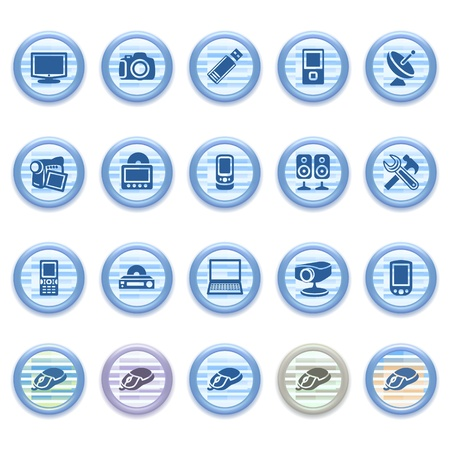 pocket pc: Blue web icons set 13 Illustration