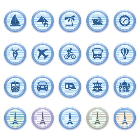 plane icon: Blue web icons set 14 Illustration