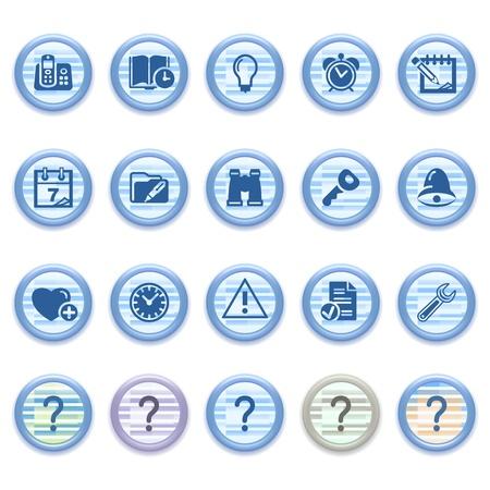 configure: Blue web icons set 15
