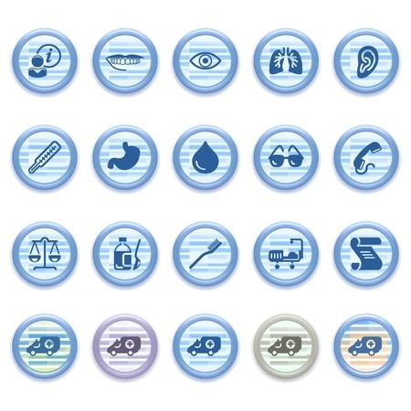 Blue web icons set 17 Vector