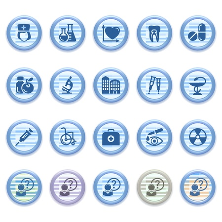 Blue web icons set 18 Stock Vector - 13459455