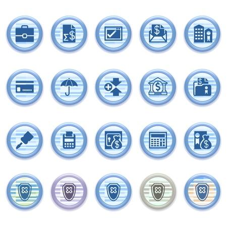 checkout button: Blue web icons set 19