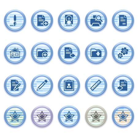 Blue web icons set 21 Stock Vector - 13459446