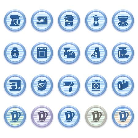 gas furnace: Blue web icons set 22